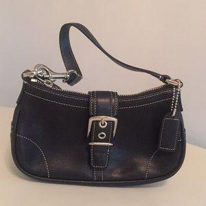 Small Purse 7542 Black Leather Baguette
